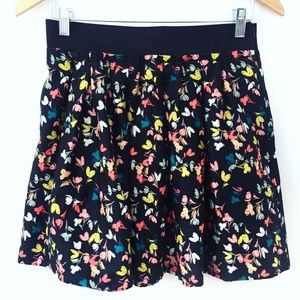 NWT Forever 21 Black Floral  Skirt w/ Pockets